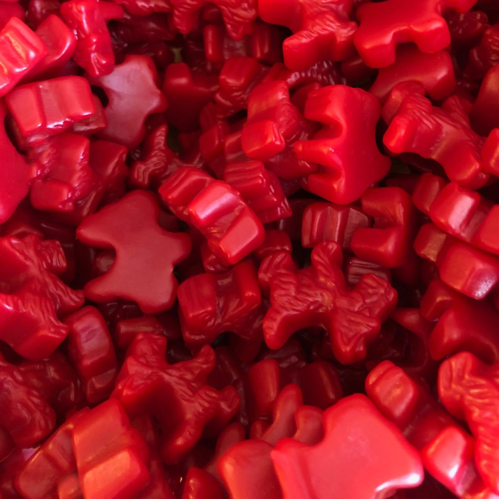 Red Licorice Scotty Dogs