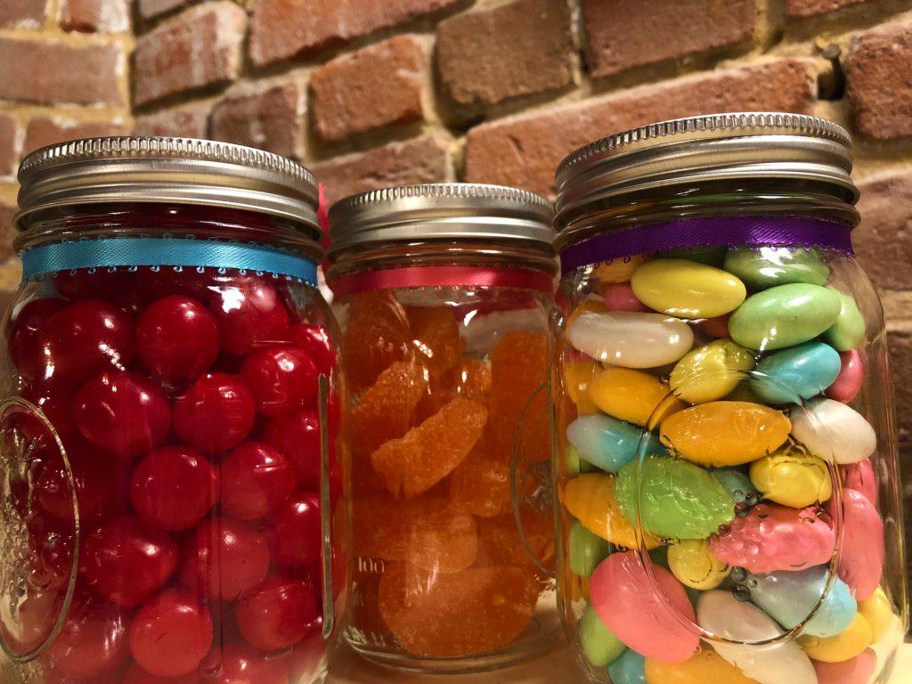 Mason Jars of Candy